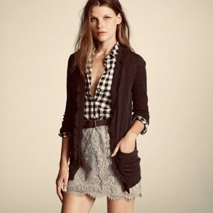 j. crew NEW olive lace mini skirt